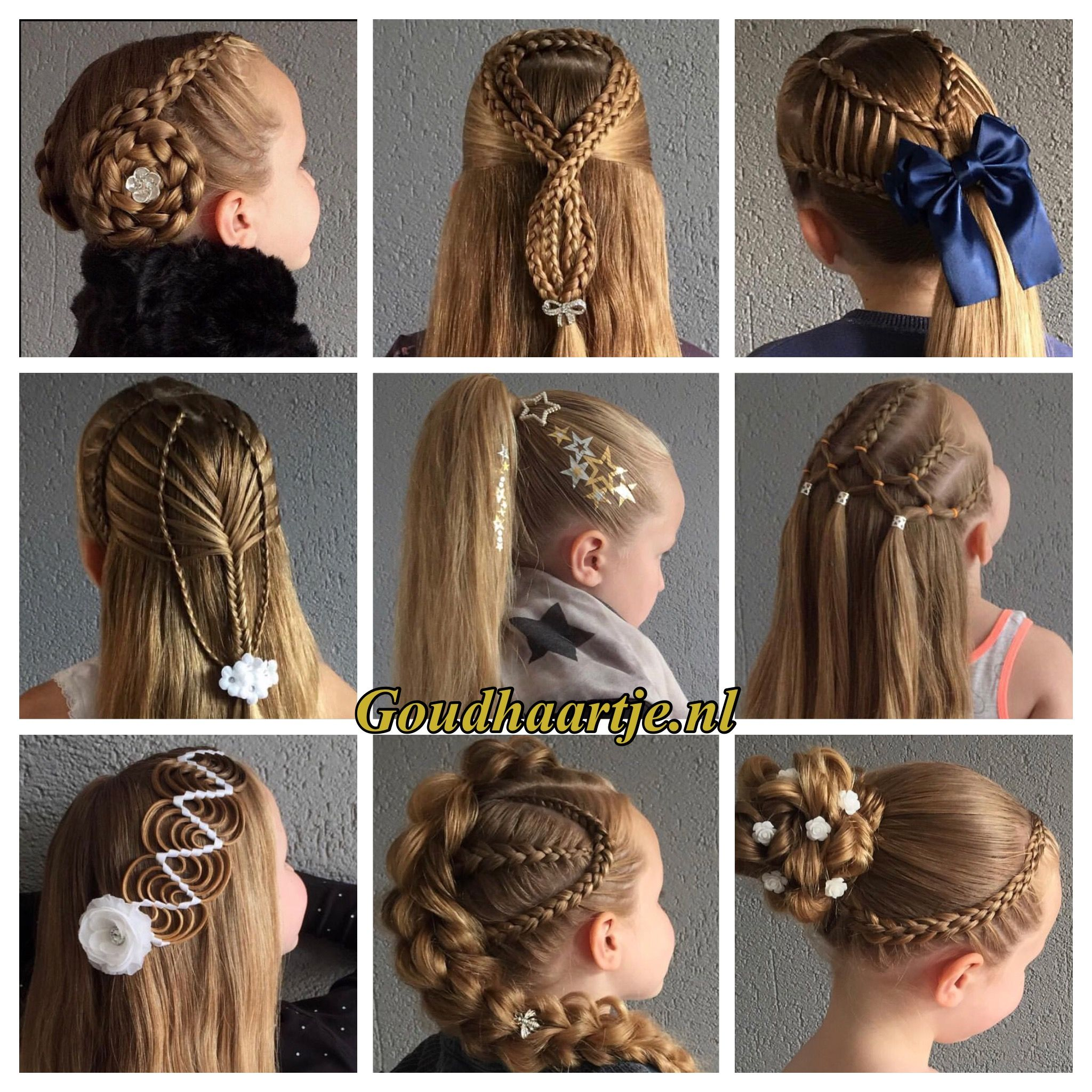 The hair accessories from the webshop goudhaartje worldwide