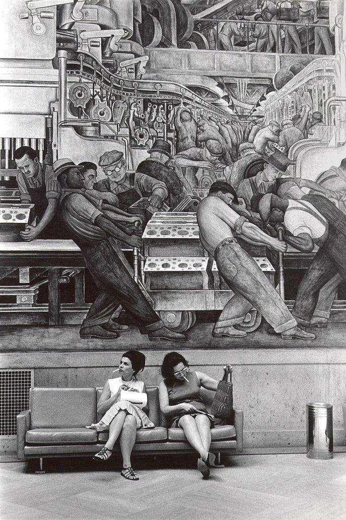 Mural Detroit Industry Artist Diego Rivera Diego Rivera Detroit Institute Of Arts Street Art