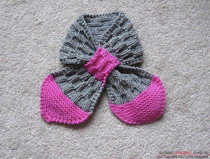 детский шарф без узла. Фото №1 | Пинетки | Pinterest