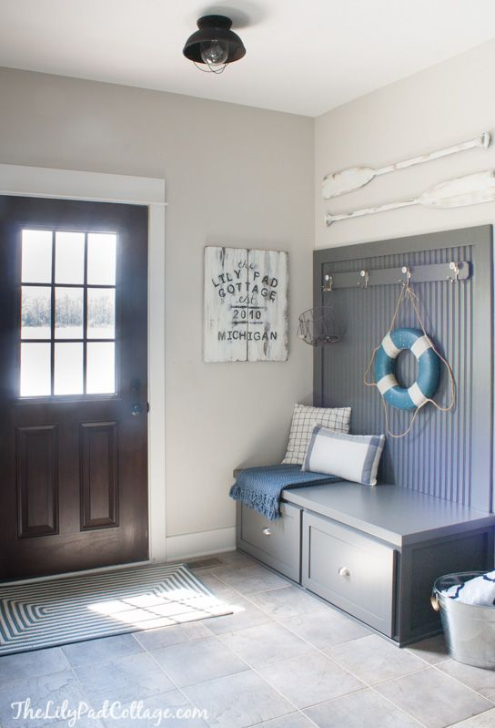 Grey Lake House Mudroom | The Lilypad Cottage | Cottage ...