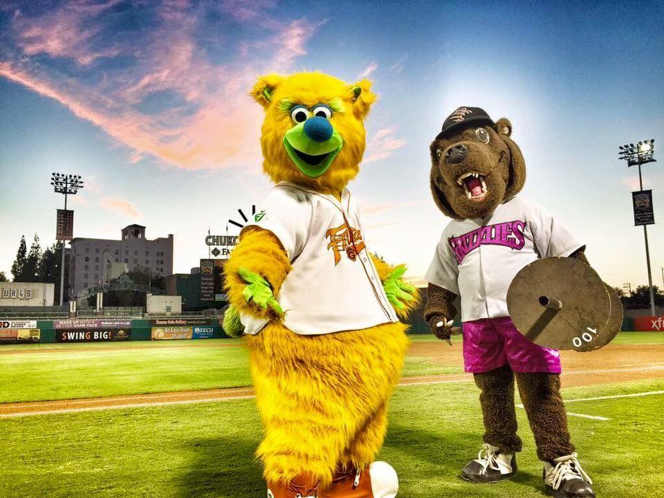 thing mascot fresno grizzlies baseball team