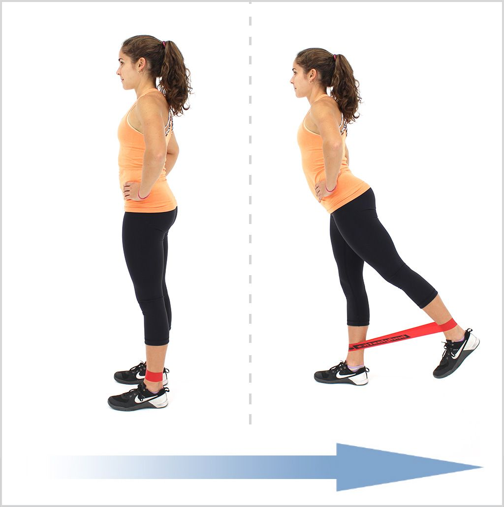 Exercise Bands Hips: Standing Hip Extensions With Loop Resistance Bands