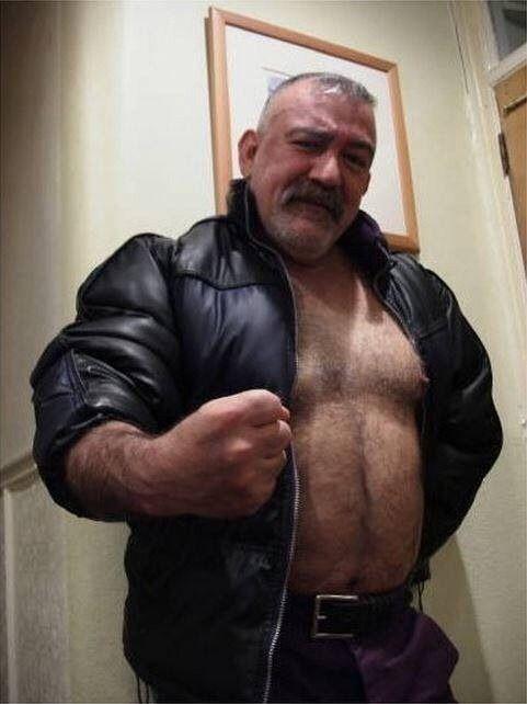 Old man gay bear