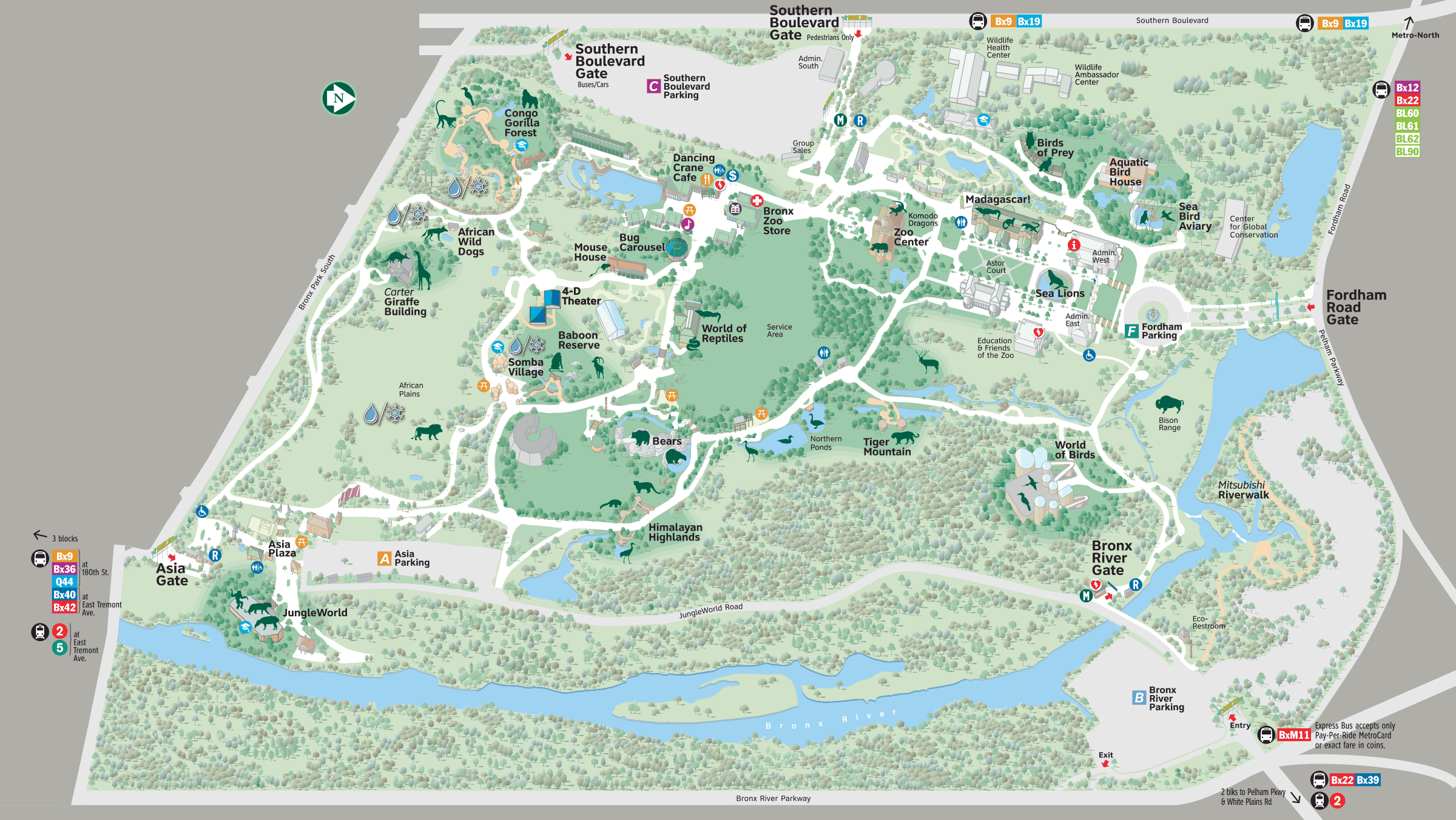 Map - Bronx Zoo | Places to Visit with the kids | Bronx zoo ... Map Bronx Zoo on ny aquarium map, south bronx map, brooklyn map, mta bronx bus route map, subway map, arthur avenue map, buffalo zoo ny map, prospect park map, american museum of natural history map, gun hill road map, zoo park map, wildlife safari map, arthur ave bronx ny map, bronx street map, woodlawn cemetery bronx map, manhattanhenge map, new york map, the bronx map, virginia zoological park map, central park map,