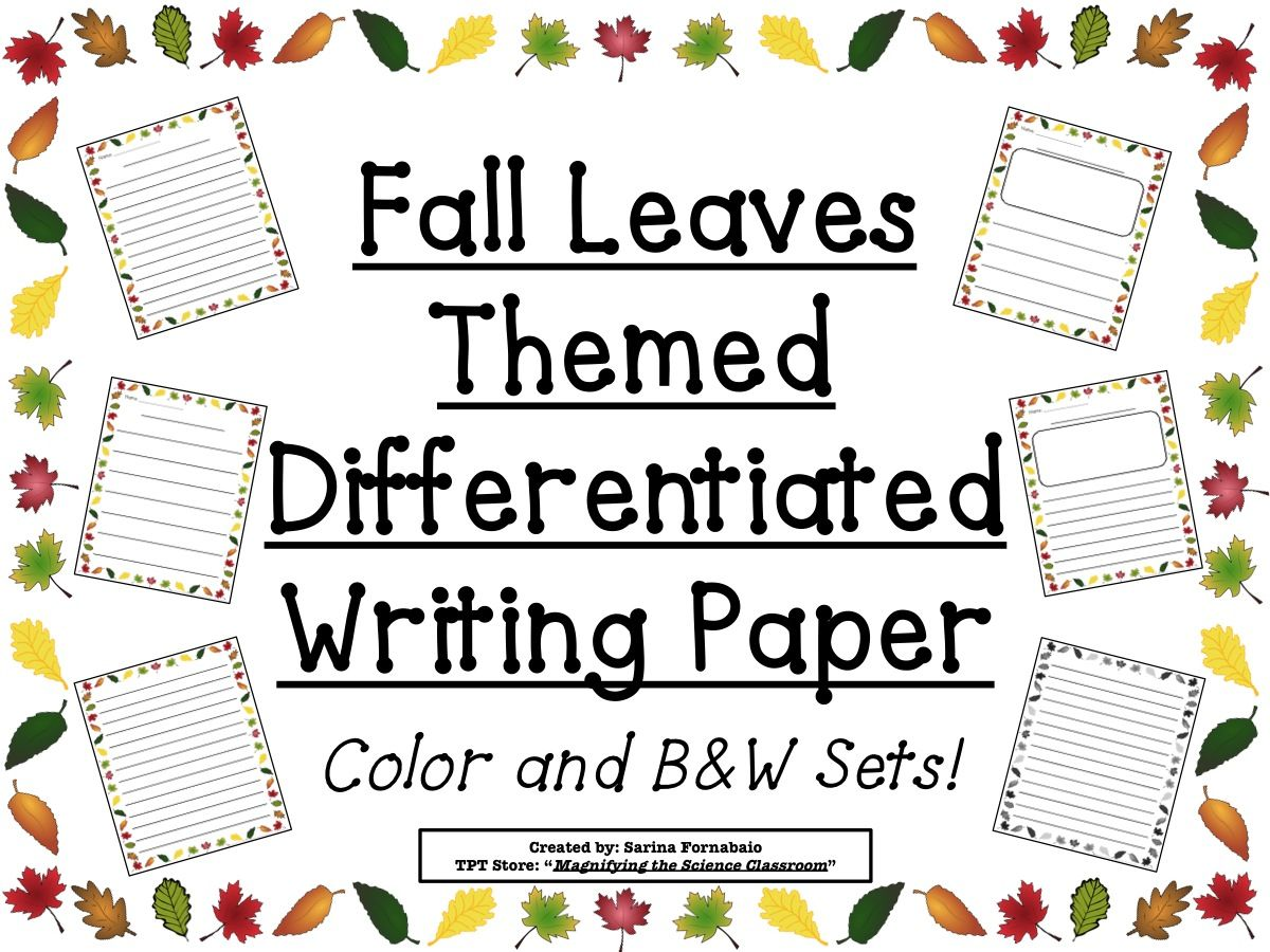 Writing Paper With Borders For Elementary - Collection of