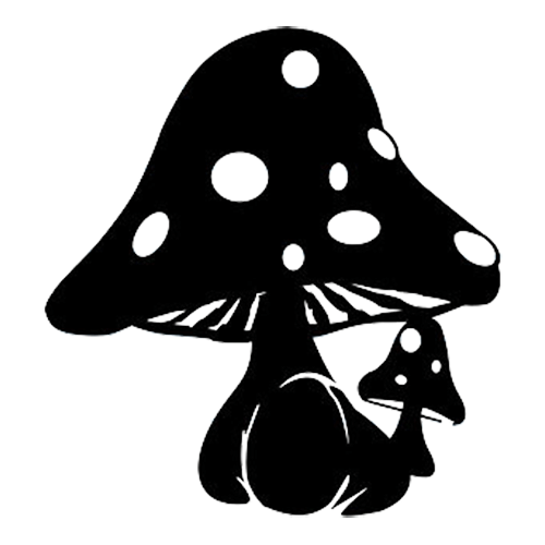 Mushroom Die Cut Vinyl Decal PV510 | stencils | Pinterest ...