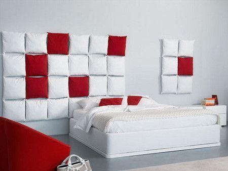 Testiera letto con cuscini bricolage pinterest