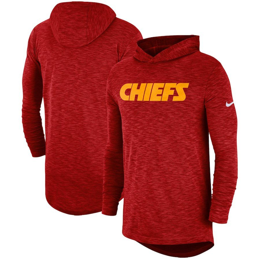 cfb2f193 Men's Kansas City Chiefs Nike Red Sideline Slub Performance Hooded ...