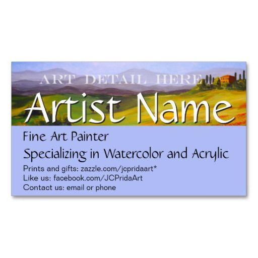 Fine Art Painter Artist S Business Card Template Zazzle Com In 2021 Artist Business Cards Buisness Cards Painter Artist