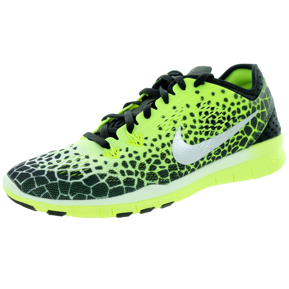 48751e3f7683 Nike Women s Free 5.0 Tr Fit 5 Prt  Mlc Silver White Training Shoe ...