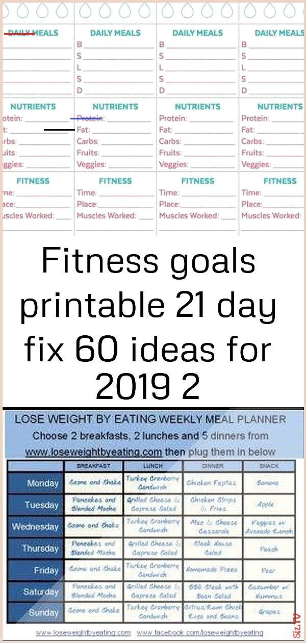 Fitness goals printable 21 day fix 60 ideas for 2019 2 Fitness goals printable 21 day fix 60 ideas f...