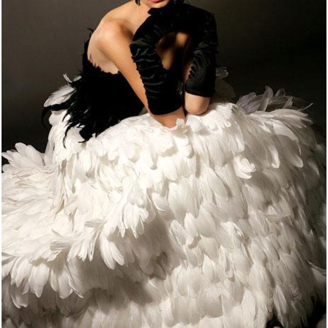 What I shall wear when asked to play the lead in Swan Lake, just in case that should ever happen.  (Okay, I know I have two left feet but it could happen.). ~ LMB
