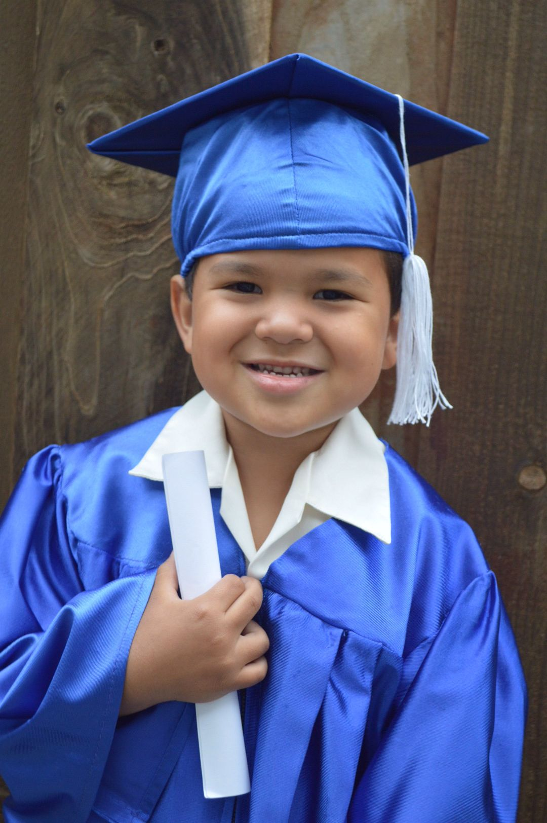 My Little Evan In His Cap And Gown Preschool Graduation
