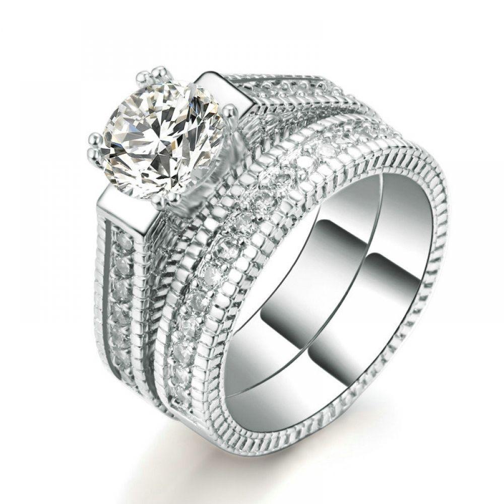 Fashion luxury wedding ring wedding rings cubic