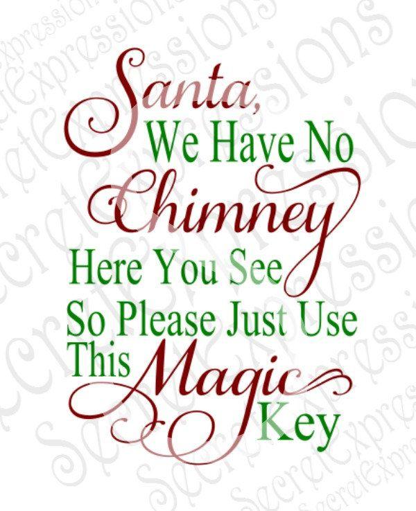 Download Santa Magic Key SVG, Christmas, Holiday, Digital SVG File ...
