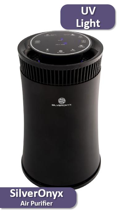 The SilverOnyx HEPA air purifier with ionizer, UV