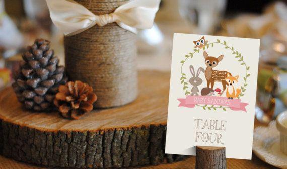 Woodland Baby Shower Printable Set for a Girl por SunshineParties