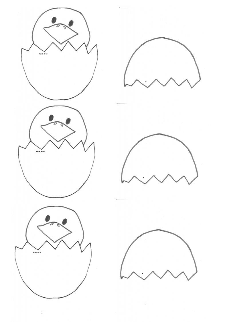 easter craft cracked egg template