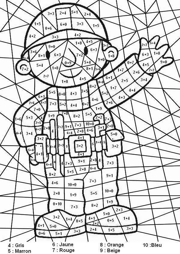 Coloriage Magique Calcul Addition.Epingle Sur Matematika