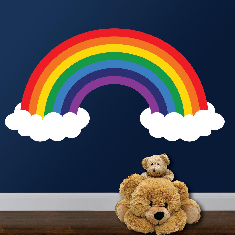Best Rainbow Wall Decal Rainbow Room Decor Rainbow And Clouds 400 x 300