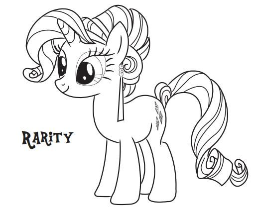 My Little Pony Coloring Pages Rarity Cartoon Coloring Pages