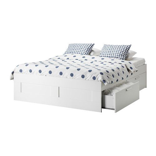 Brimnes Bed Frame With Storage White Queen Bed Frame With Storage Ikea Storage Bed Bed Frame