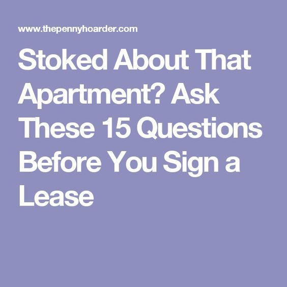 Renter Beware 15 Questions To Ask Your Landlord Before
