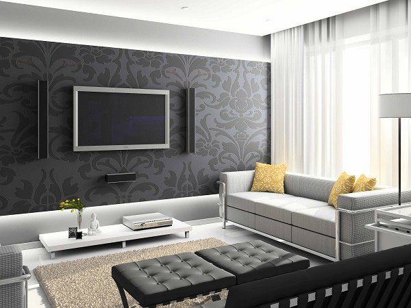 15 Living Room Wallpaper Ideas Types And Styles Of Wallpapers Contemporary Living Room Design Living Room Design Modern Living Room Interior