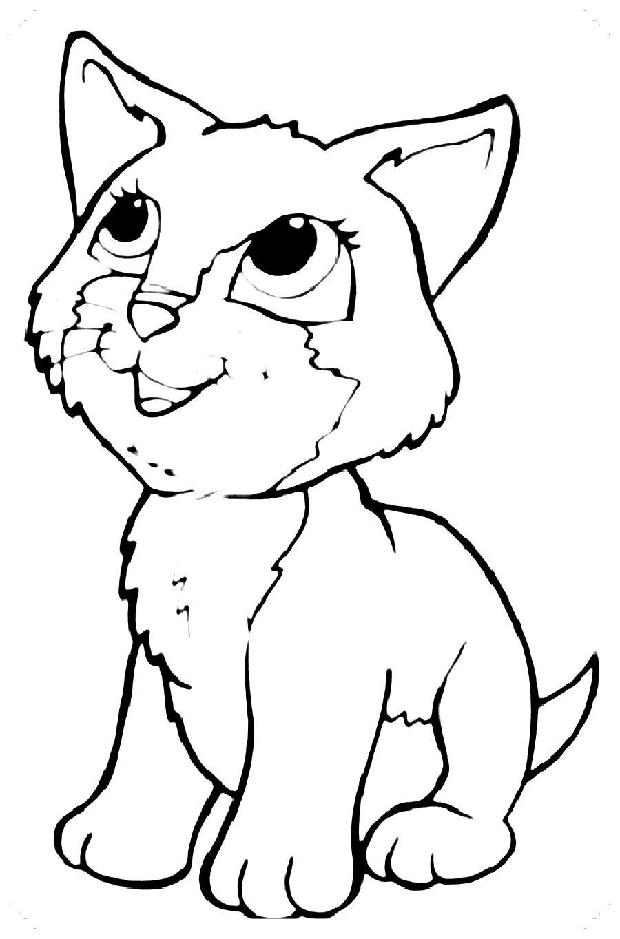 Dibujos De Gatos Para Colorear Gatito Para Colorear Dibujos