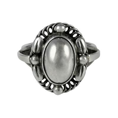 GEORG JENSEN Sterling TULIP Earrings #106 Denmark Danish Screw Back 106