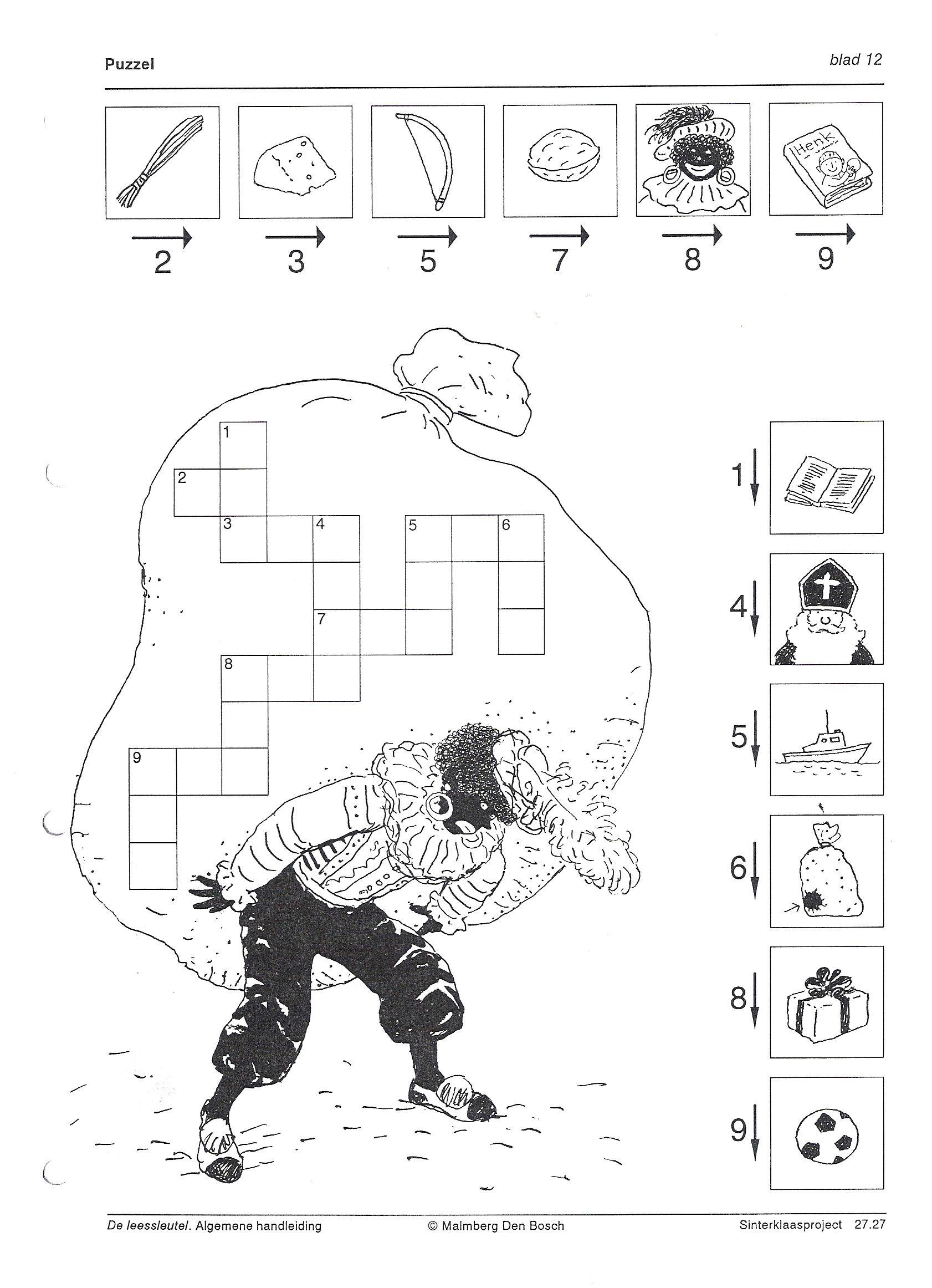 Puzzel Sinterklaas Knutselen Sinterklaas Thema