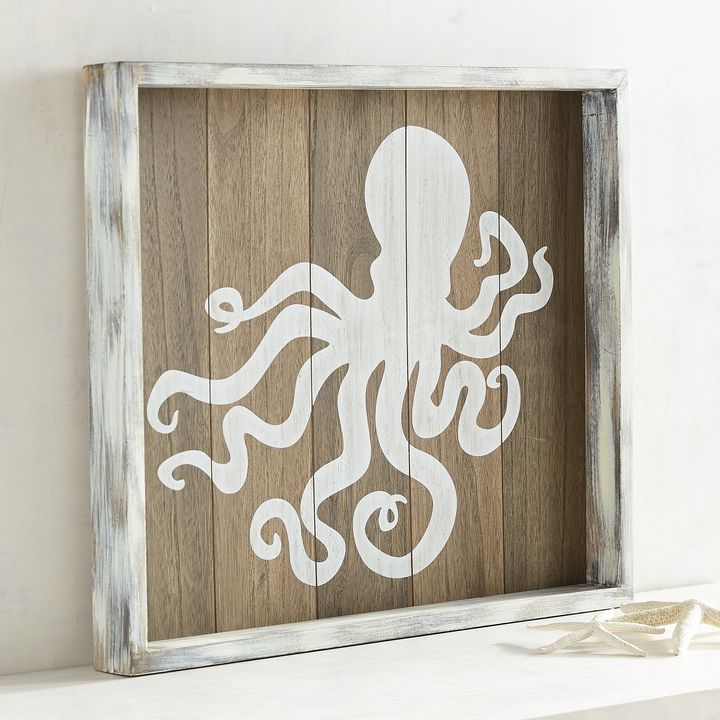 Pier 1 Imports Wood Planked Octopus Wall Decor Products Wood