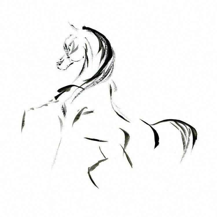 Minimalist Horse Print Arabian Horse Art Minimalist Horse Arabian Horse Tattoo Horse Tattoo Small Horse Tattoo