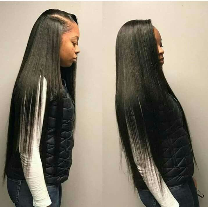 Pin By Beriona On 1 My Next Hairstyles Straight Weave Hairstyles Straight Hair Bundles Hair Styles