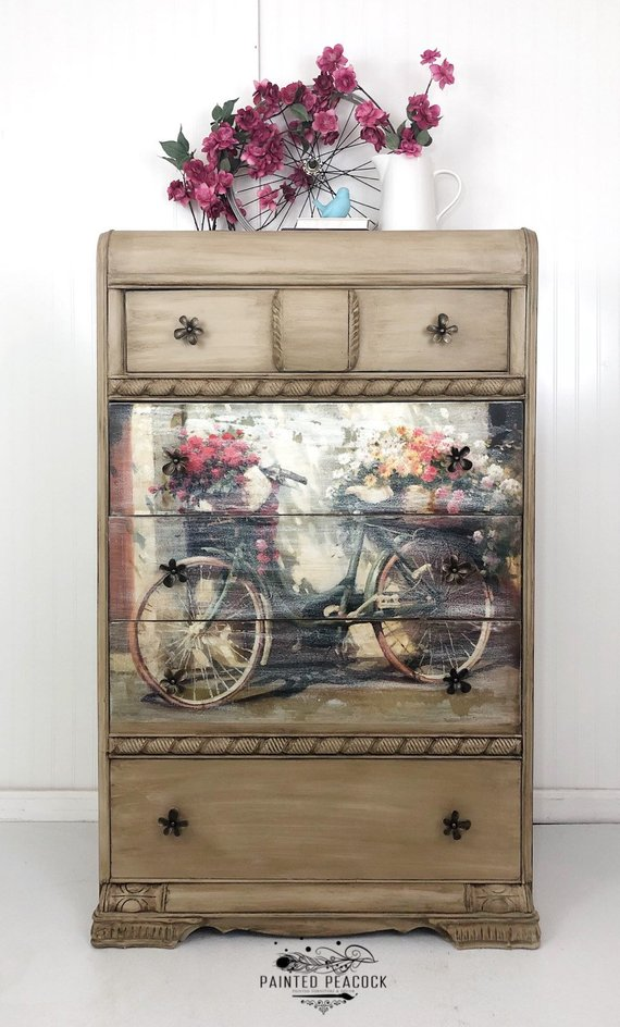 SOLD*** Art Deco Vintage Restyled Chest Of Drawers