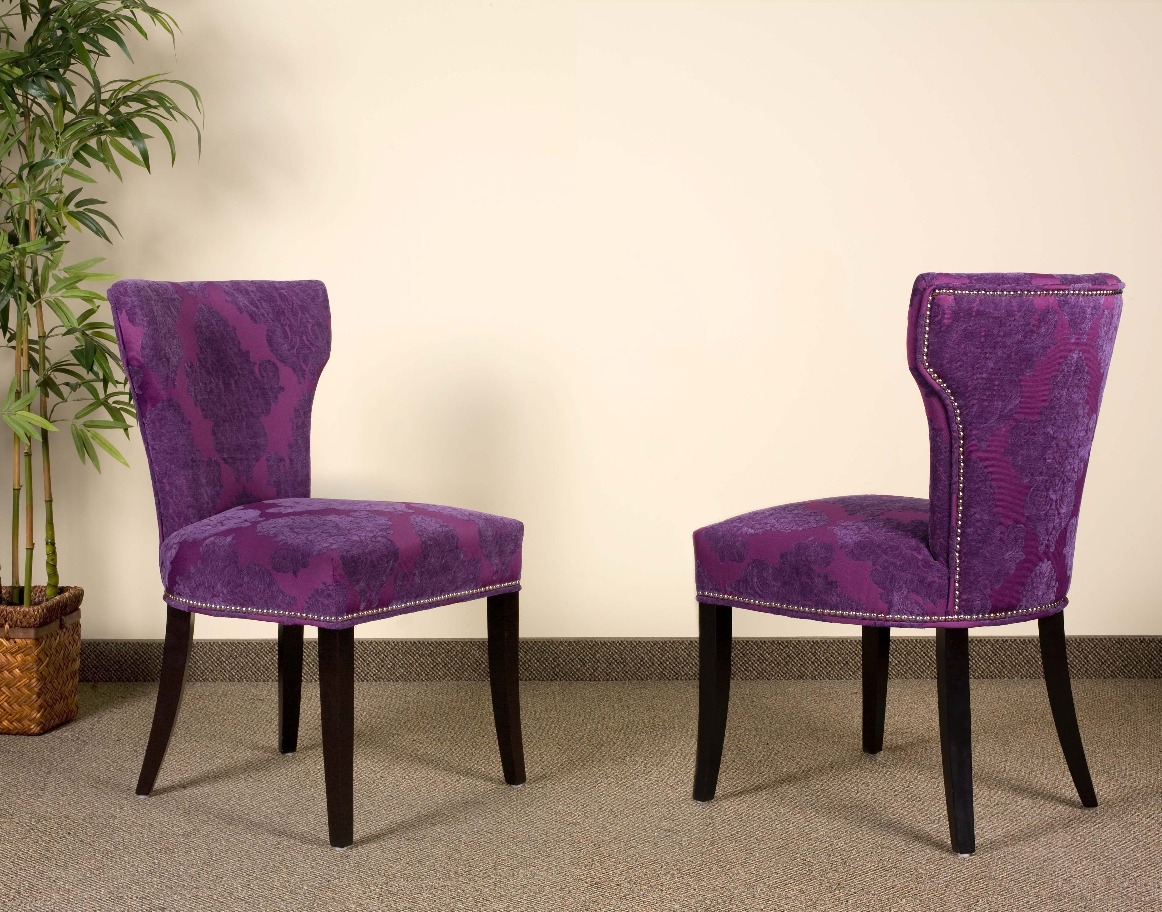 Turquoise Blue Velvet Damask Furniture Parsons Leather Chairs