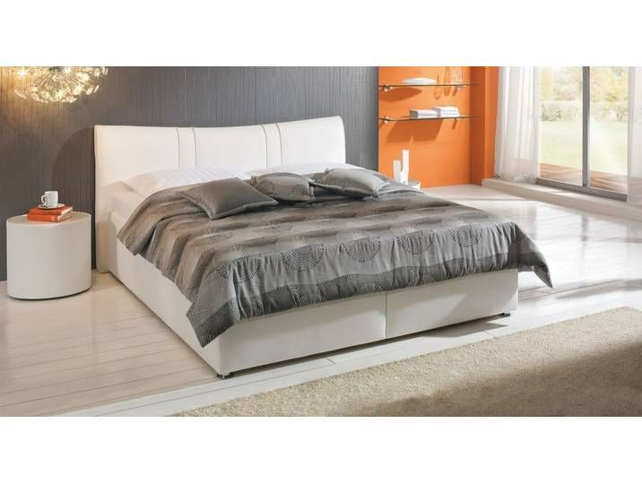 Polsterbett Mit Bettkasten 120x200 Cm Weiss Kunstlederbett Veneti Leather Bed Upholstered Beds Bed Storage