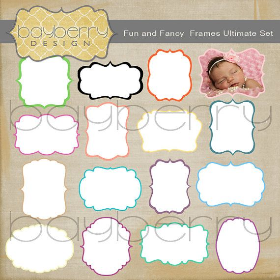 Vector Grunge Frame Templates Royalty Free 12