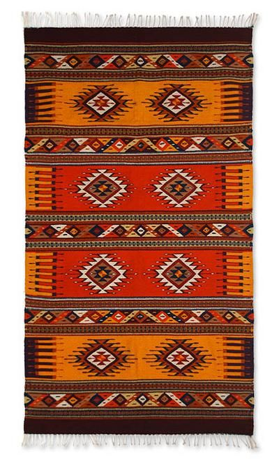 Zapotec Wool Rug 4 5x7 Summer S Day Wool Rug Rugs