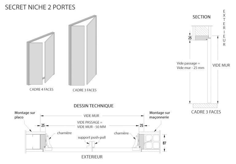 Porte Battante Invisible Secret Porte Battante Portes Projet Maison