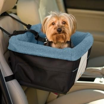 Kurgo Skybox Blue Collapsible Pet Booster Car Seat Installs Quickly And Securely Metal Supports For Structural Integrity Easy Storage When
