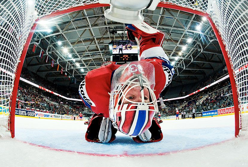 Ice Hockey Goalkeeper Joel Marklund Goalie Ice Hockey Hockey Goalie
