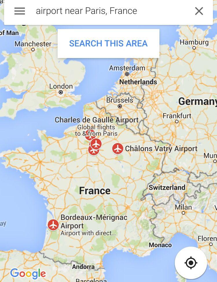 airports near paris