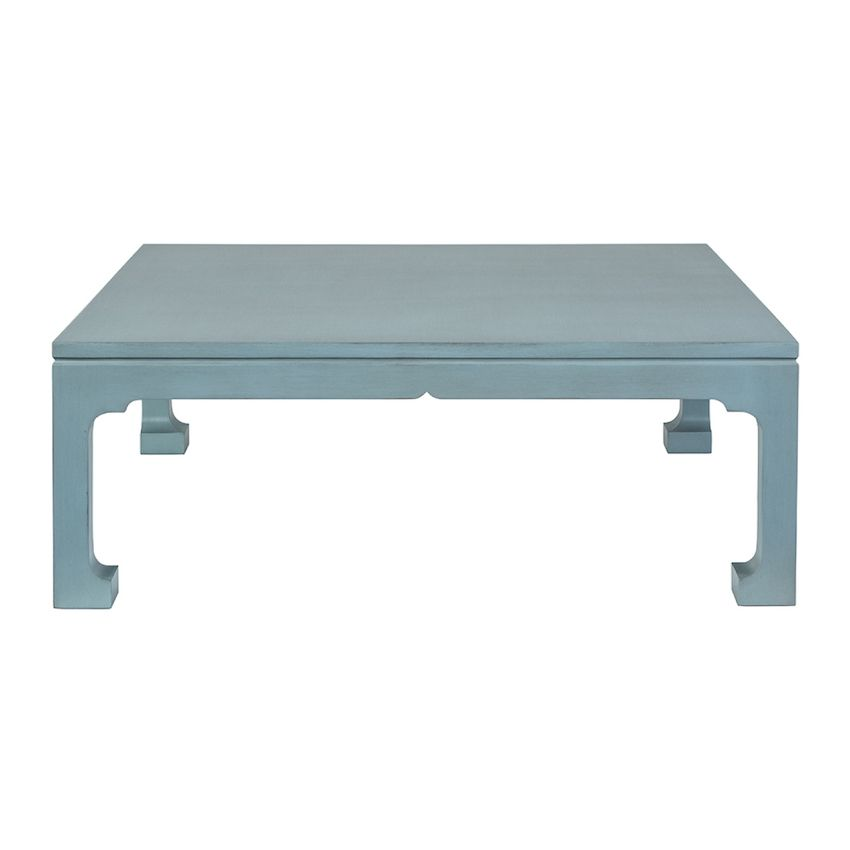 Morris Square Coffee Table Shown In Robins Egg Blue Also Shown In White Wash Rustic Matte Finish Availa Coffee Table Square Coffee Tables For Sale Coffee Table