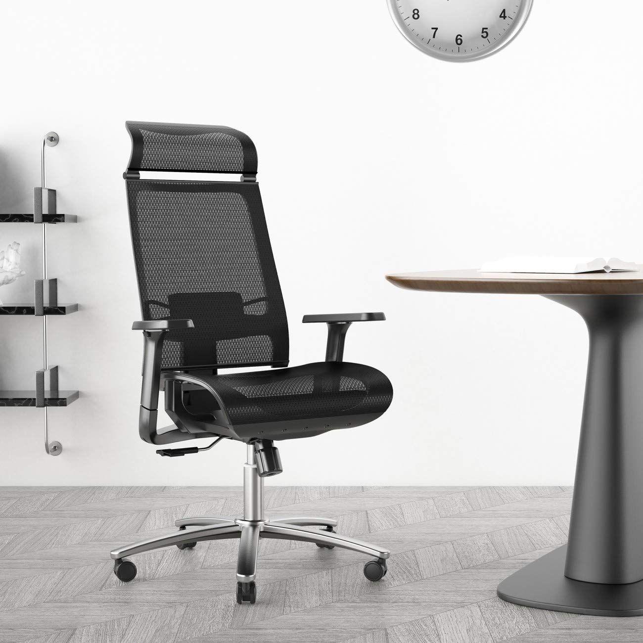 Bilkoh Ergonomic Computer Headrest Adjustable In 2020 Ergonomic Office Chair Mesh Office Chair Computer Desk Chair