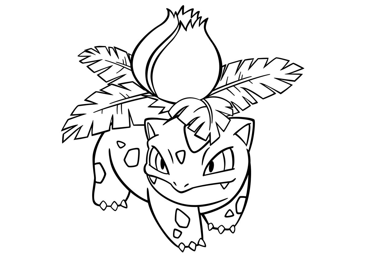 002 Ivysaur High Quality Free Coloring From The Category Pokemon More Printable Pictures On Our Webs Coloring Pages Pokemon Coloring Pokemon Coloring Pages