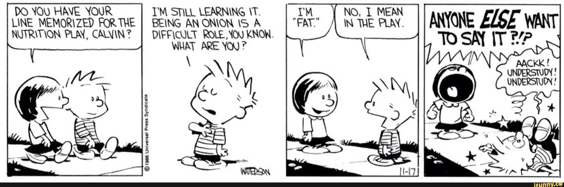 Calvin was savage