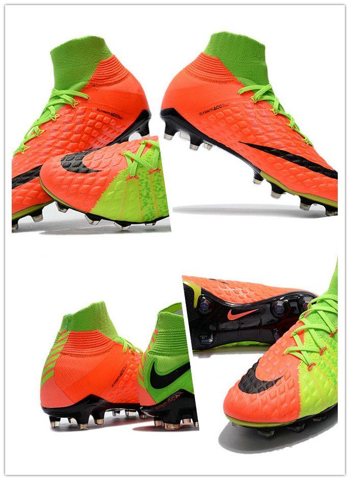 brand new b3089 81680 Chaussures Nike Hypervenom Phantom DF III FG Vert Orange Matière : Nike  Skin, un mélange