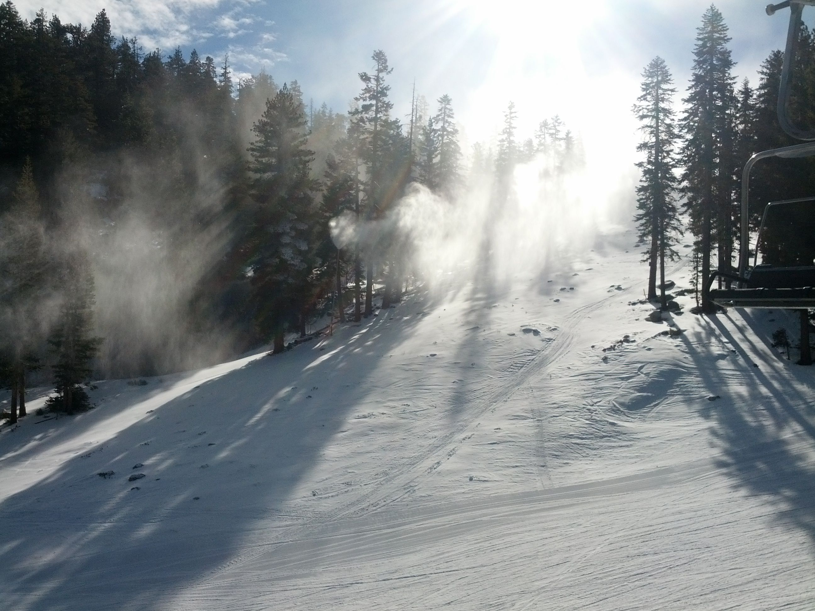Snowing in the Sunshine... What??? Heavenly has the best snow making on the West Coast - No Snow? We'll make our own! 14 miles of trails open and more coming soon!