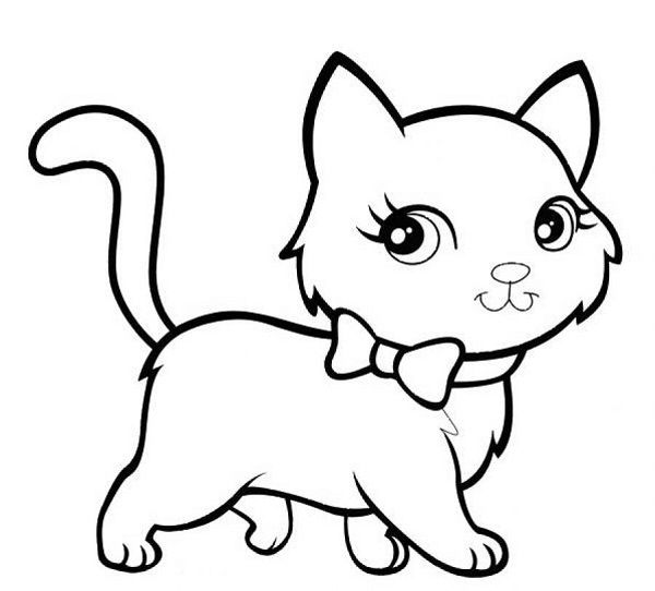 Cute-Cat-Coloring-Pages.jpg (600×542) | Кошки | Pinterest
